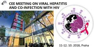 4th Central and Eastern European Meeting on Viral Hepatitis and Co-infection with HIV, 11.-12. 10. 2018, Praha